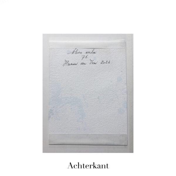 Small Painting No. 77 achterkant | Herman van Veen