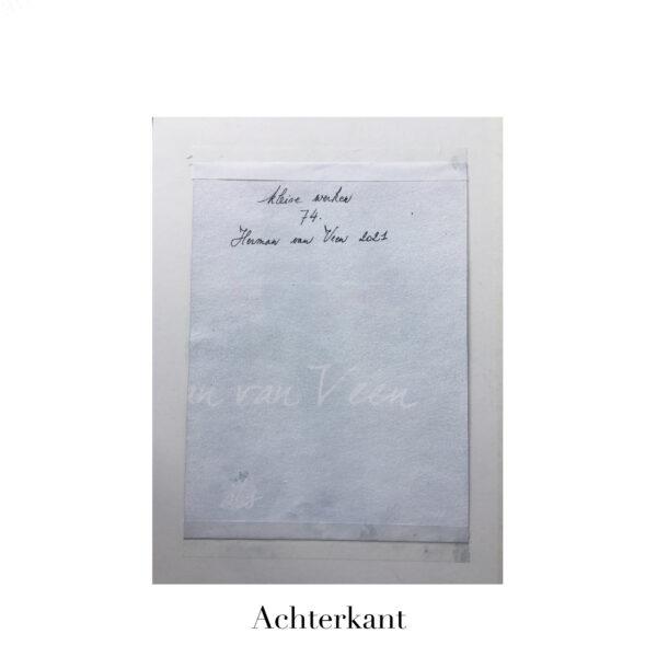 Small Painting No. 74 achterkant | Herman van Veen
